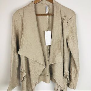 Monoreno Boho Open Front Waterfall Cotton NWT